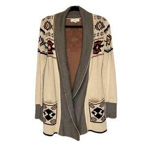 If It Were Me Aztec Print Sweater Cardigan